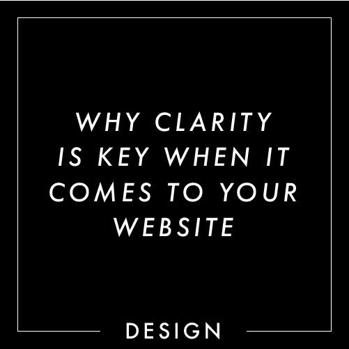 Clarity in websites